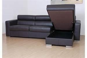 Canapé Angle Convertible Cuir : canape cuir avec tetiere maison design ~ Teatrodelosmanantiales.com Idées de Décoration