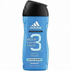Adidas After Sport 3in1 Body Hair Face Shower Gel