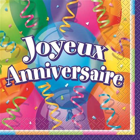 livre la cuisine de bernard serviette de table joyeux anniversaire achat vente