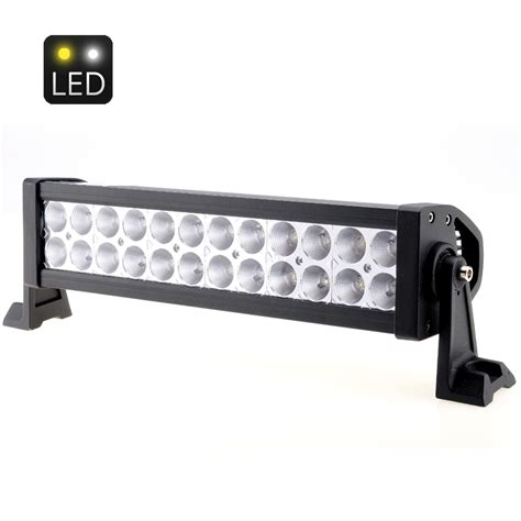 white light bar 13 5 inches 72w 4300 lumens 24x 3w