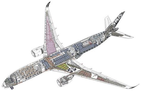 airbus a350 900 cutaway photo prints 10861182