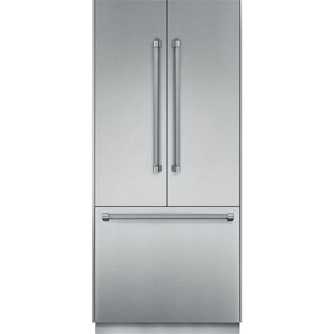 tbtns thermador freedom  built  fully flush french door refrigerator