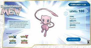 Pokemon 20th Anniversary Download Events Kick Off with Mew ...