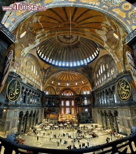 Santa Sofia Istanbul Interno Santa Sofia A Sultanahmet Istanbul Vista Dell Interno