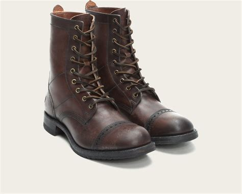 Frye Logan Jump Boot In Brown For Men (dark Brown)