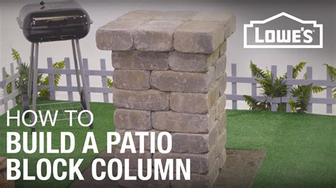 How To Build A Patio by How To Build A Patio Block Column