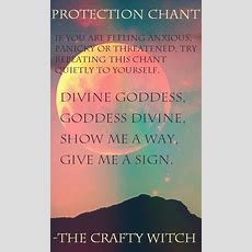 The Crafty Witch Protection Chant  Paganwiccanmagic  Pinterest  Witches, Crafty And Magick