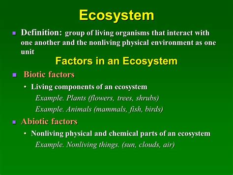 Ecosystem Definition Biology Ecosystems And Their Interactions Ppt Video Online Download
