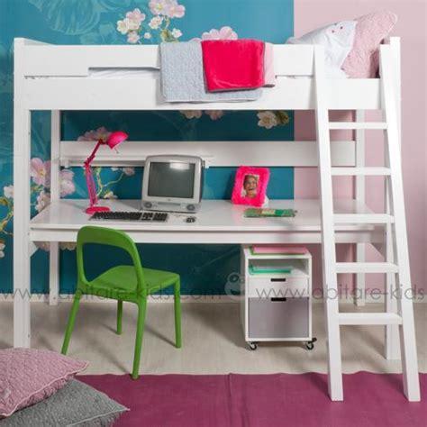 lit mezzanine bureau ado tagres chambre enfant deco chambre fille romantique