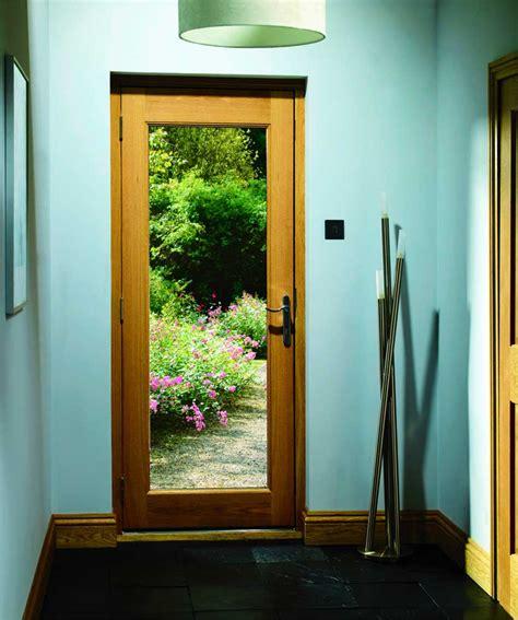 pattern  glass oak external door