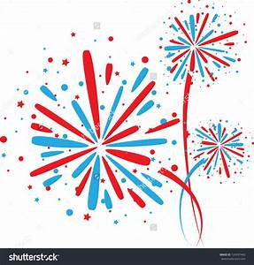 Red White And Blue Fireworks Clipart – 101 Clip Art