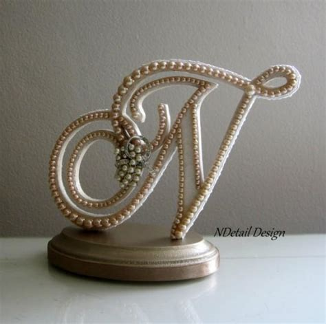 letter cake toppers wedding cake topper custom monogram letter n custom 22787