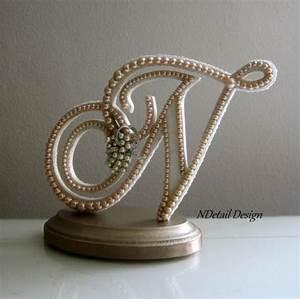 wedding cake topper custom monogram letter n custom With letter n cake topper