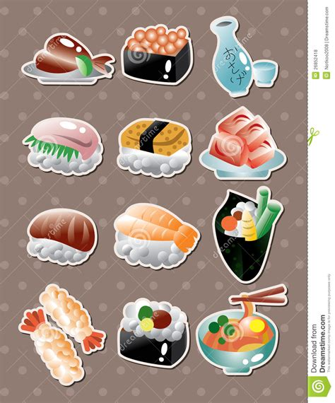 stickers cuisine 日本食物贴纸