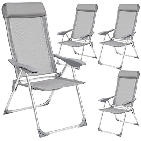 chaise bistrot alu tectake lot de 4 aluminium chaises de jardin pliante avec