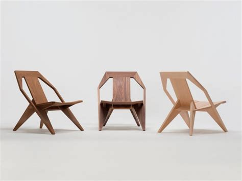 modern wooden chair with a comfortably reclined posture