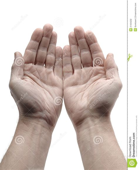 open hand stock photography image