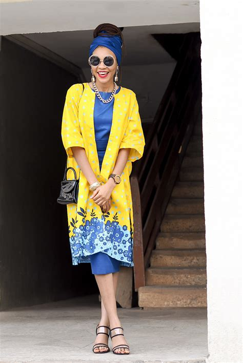 Yellow Ankara Outfit For Jazz Night With Camille Thurman In Abuja