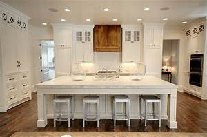 cocinas blancas con muebles de madera muy modernas With best brand of paint for kitchen cabinets with stair wall art
