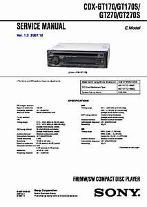 Sony Cdx-gt170  Cdx-gt170s  Cdx-gt270  Cdx-gt270s Service Manual