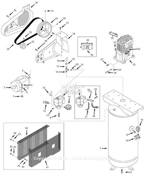 cbell hausfeld vt6311 parts diagram for air compressor