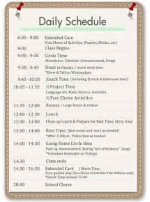 Home Preschool Daily Schedule