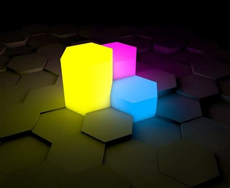 neon hexagonal prism wallpaper hd wallpapers hd