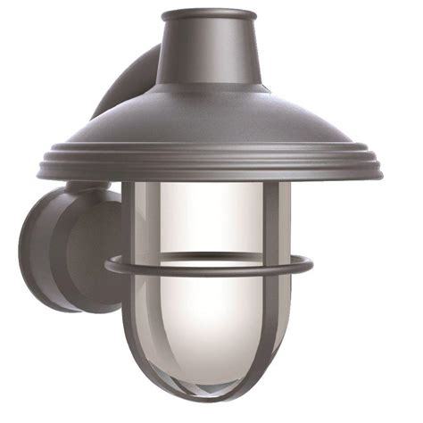 newport coastal bayview satin nickel outdoor wall mount