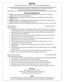 career objective exles for fashion retail stores retail manager sle resume