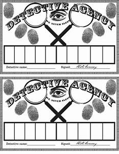 like these for a more detective themed idea teaching With fingerprint template for kids