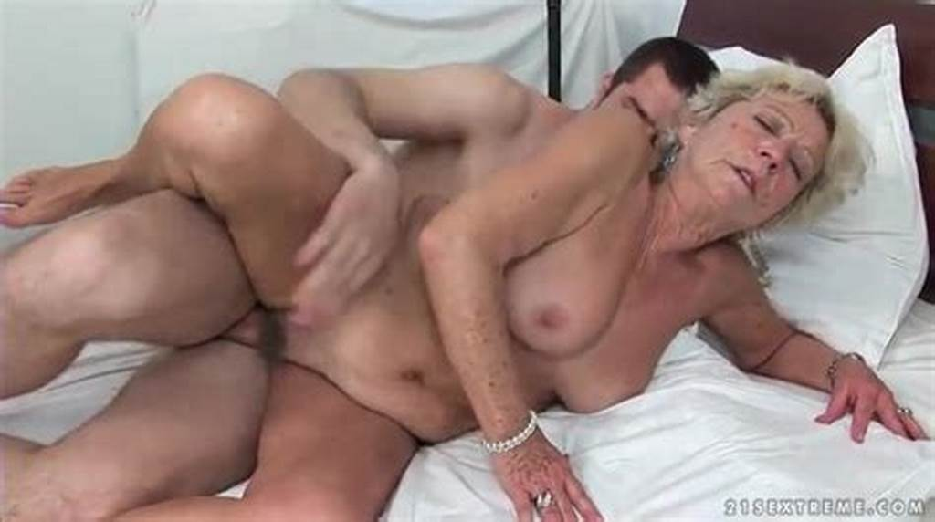 #Hairy #Granny #Pussy #Rides #A #Young #Cock