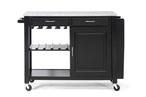 kitchen cart with wine storage modern black kitchen island cart cabinet wine bottle glass 8193