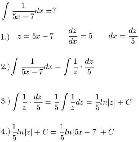 substitutionsregel integral integralrechnung
