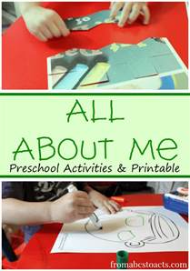 All About Me Preschool Theme Activities