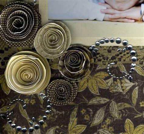 simple spiral flowers allfreepapercraftscom
