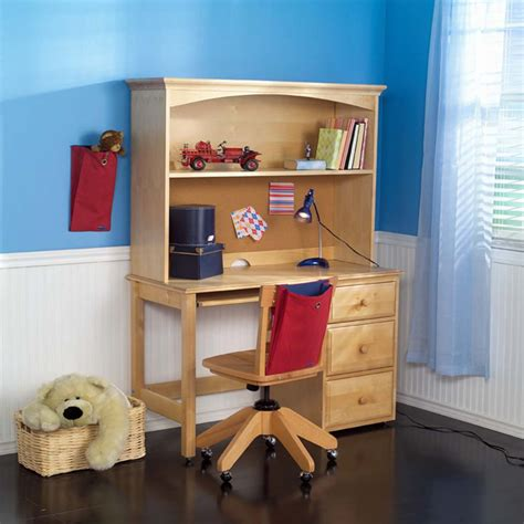 kids desk with hutch student desk with hutch by maxtrix kids shown in natural