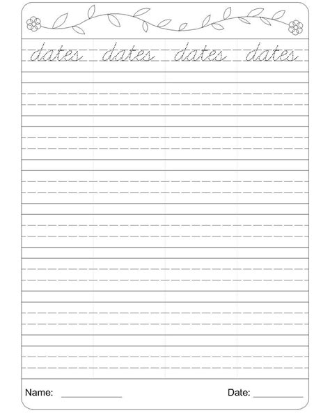 cursive writing worksheet 4