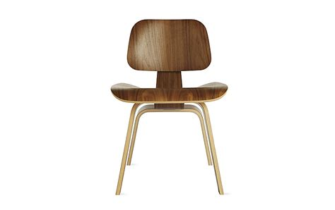 Eames Molded Plywood Dining Chair with Wood Base Herman