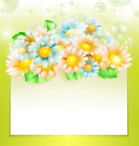 shiny spring flowers creative background vector 01 vector background free download фоны