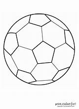 Ball Soccer Coloring Print sketch template