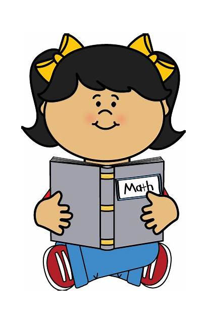 Math Clipart Reading Kid Studying Clip Doing