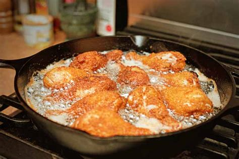 frying cooking iron cast skillet deep chicken food pans skillets techniques pan foodal oil should essential everyone know kitchen handle