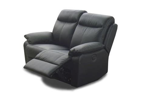 canap relax cuir 2 places canapé 2 places cuir relax victory noir
