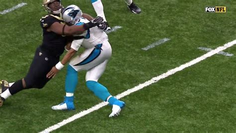 Cam Newton Collapses On Field After Huge Hit (video