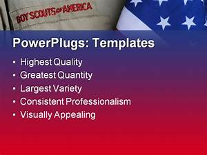 boy scout uniform and united states flag powerpoint With boy scout powerpoint template