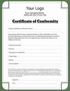 certificate of conformity templates pageprodigy print With certificate of conformance template word