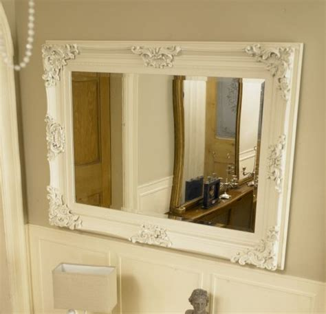 Ornate Bathroom Mirror by Large Ivory Ornate Framed Mirror Bathroom Kitchen Wall