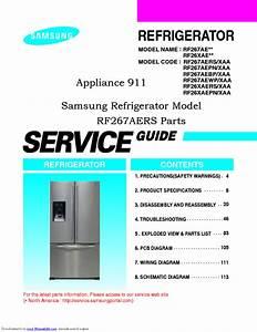 Samsung Rf267ae Series Refrigerator Service Manual