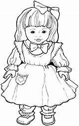 Doll Coloring Dolls Pages Coloriage Jouets Shoppies Printables Dessin Et Kid Templates Books Return Main sketch template