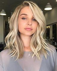 Blonde Medium Shoulder Length Hair